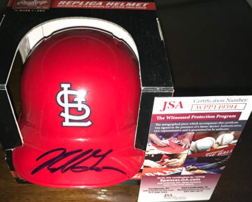 (Nolan Gorman St Louis Cardinals Autographed Signed Mini Baseball Helmet JSA WITNESS COA)