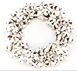 Real Cotton Wreath – 18″-28″ – Adjustable Stems – Farmhouse Decor – Wedding Centerpiece