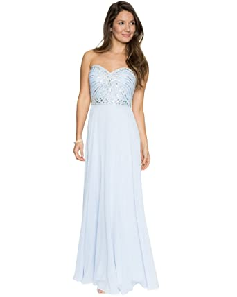 LE CHÂTEAU Women\'s Chiffon Jewel Embellished Sweetheart Gown at ...