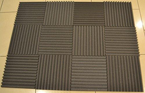 FoamEngineering Acoustic Panels Studio Soundproofing Foam Wedge Tiles, 12 X 12-Inches, 48 Pack - Image 1