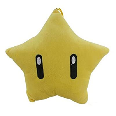 """MonkeyEAT Super Mario Star 8"""" Plush Toy: Toys & Games"""