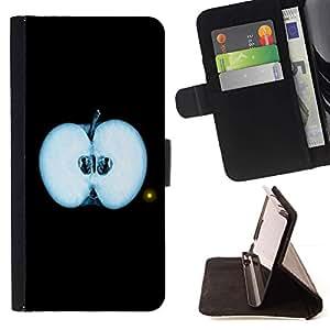 For HTC DESIRE 816 Case , Fringe de Apple- la tarjeta de Crédito Slots PU Funda de cuero Monedero caso cubierta de piel