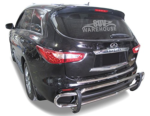 Wynntech Rear Bumper Guard for 2013 to 2016 Infiniti QX60 – Double Pipe Stainless Steel