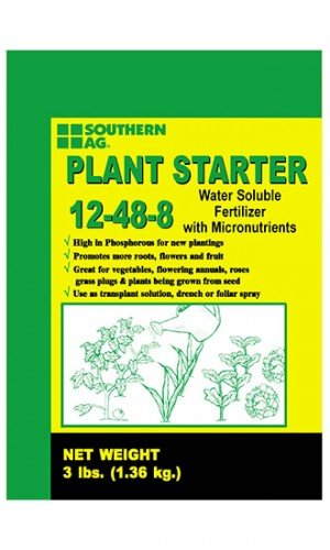 Plant Starter Solution - Southern Ag Plant Starter Soluble Fertilizer 12-48-8 in 3 Pound Bags