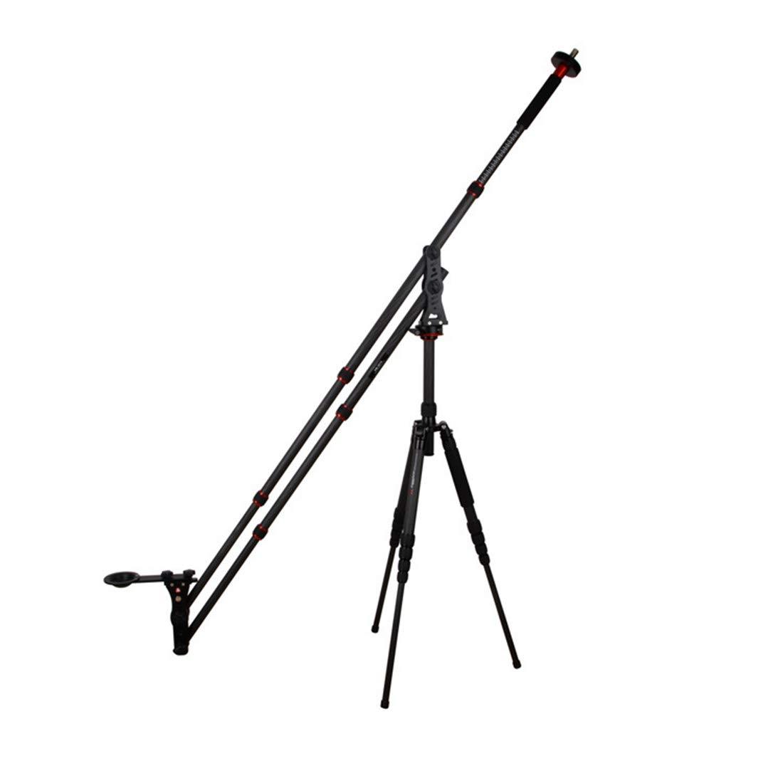 Koloeplf ウェディングカーボンファイバー一眼レフカメラ小型ロッカーアームポータブルマイクロフィルムロッカーアーム (Color : ブラック)  ブラック B07PLF14QV