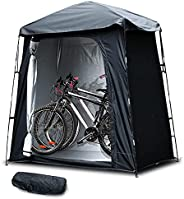 MAIZOA Outdoor Storage Bicycle Cover, Outdoor Portable Bicycle Tent, can Store Three Bicycles, Windproof, Wate