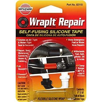 "Versachem 82110 WrapIt 1"" x 10' Repair Silicone Tape"