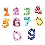 [Free Shipping] 10Pcs Baby Kid Numbers Wooden Fridge Magnet Stick Decoration Toys // 10pcs bebé números cabrito decoración juguetes de madera imán del palillo