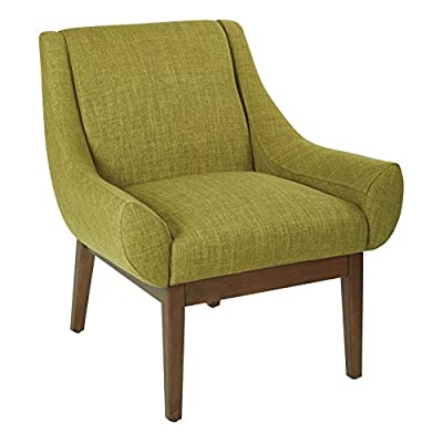 AVE SIX Couper Accent Chair with Coffee Legs, Green Fabric - Mid-century modern design Low profile seating Flared arms - living-room-furniture, living-room, accent-chairs - 51lIfcpyu6L. SS400  -
