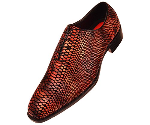 Bolano Mens Exotic Faux Snake Skin Print Oxford Dress Shoe: Style Seabrook -
