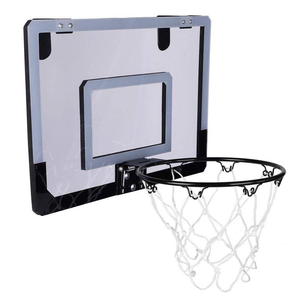 Basketball Hoop System,Wall Mounted Durable Universal Backboard Bracket Hoop Kit for Kids Indoor Activity