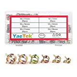YaeTek 120 Pcs Spring Band Type Clips Action Fuel/Silicone Vacuum Hose Pipe Clamp Low Pressure Air Clip Clamps Fasteners Assortment Kit (10 x 7mm 10mm 11mm 14mm 16mm 17mm)