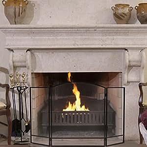 Amazoncom SKB family Black Folding Steel Fireplace