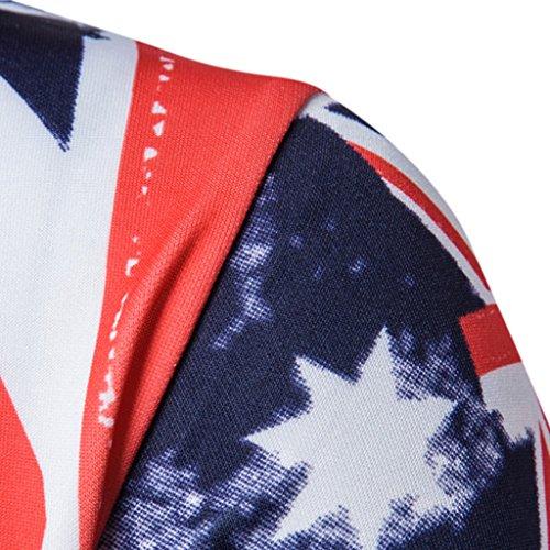 Magideal Maglietta Multicolore shirt Felpe Abbigliamento Per Uomo Top T 7r6xO87nw