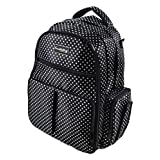 Knuddelstuff 'Buckingham' Baby Diaper Bag Backpack & Organizer System – Insulated Pockets, Black