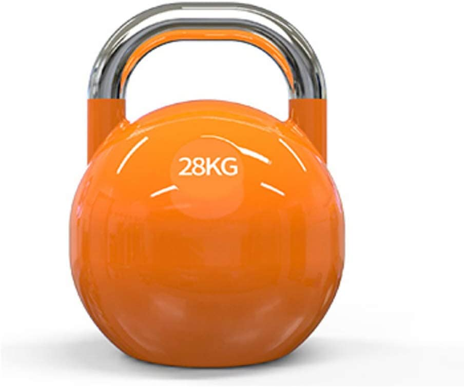 Strength Training Kettlebells Heavy Weight Kettle Bell for Strength and Cardio Training Kettlebells for Home and Gym Fitness Workout Equipment for Bodybuilding and Weight Lifting,28kg Orange