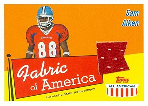 - Sam Aiken player worn jersey patch football card (North Carolina Tar Heels) 2003 Topps All American #FASA Rookie