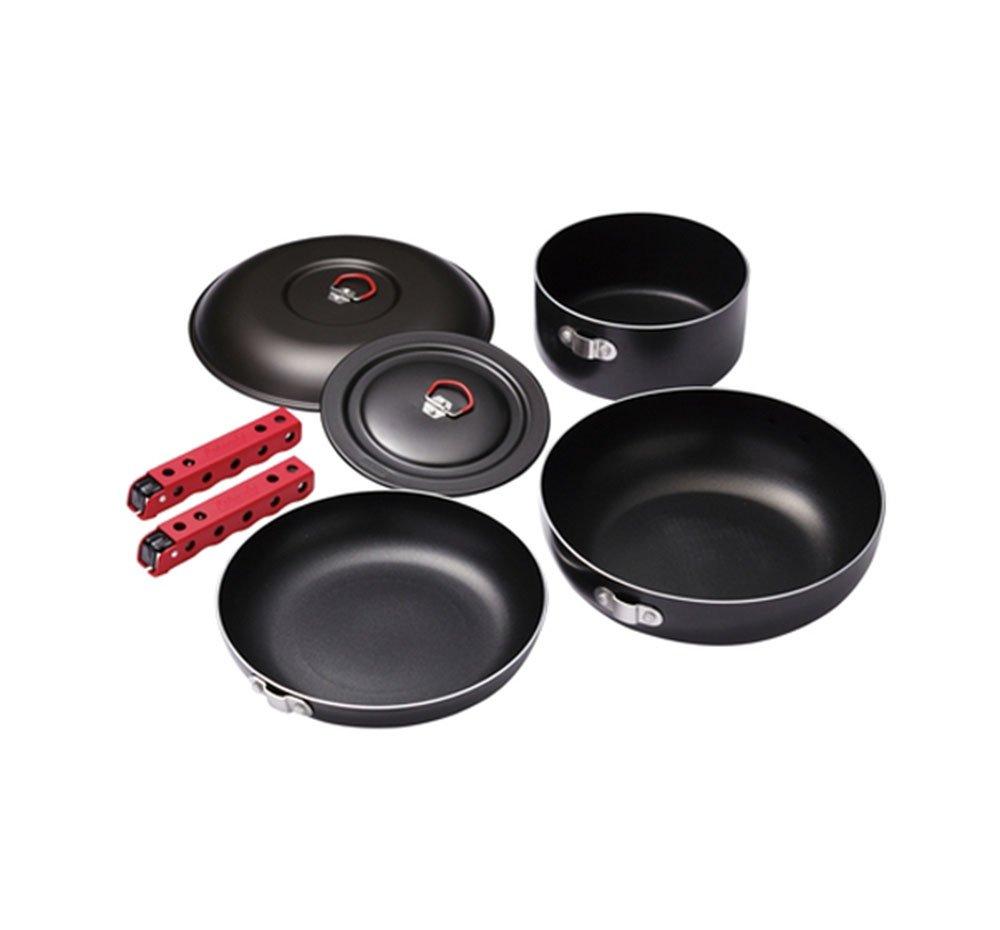 Coleman Aluminium Comping Kitchen Pots Pans Saucepan Grip Case 8p
