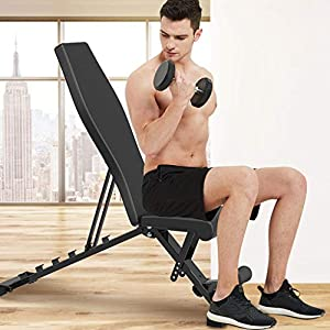 Adjustable Benches Utility Weight Bench for Full Body Workout- Multi-Purpose Foldable incline/decline Bench