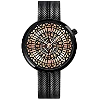SHENGKE Women Ultra Thin Quartz Mesh Band Elegant Ladies Watch