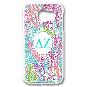 Plastic Case Cover for Samsung galaxy S6,Samsung galaxy S6 case With monogram Colorful Floral flowers Logo design by mcsharks