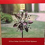 Solar Wind spinner Jeweled 6' High Color Changing Light by QVC M51984 032000