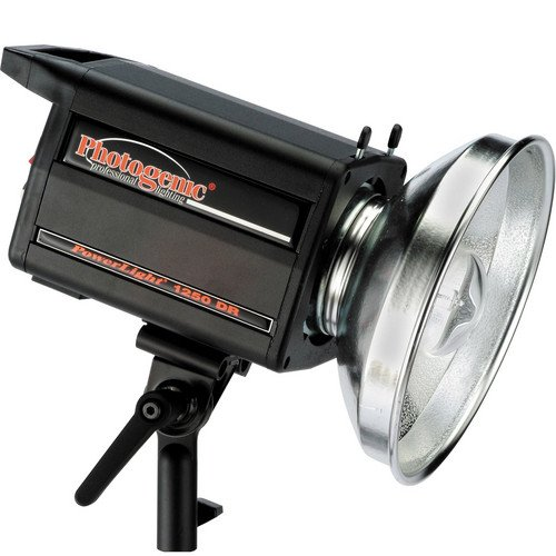 (Photogenic 500ws PL2 Series Powerlight with Built-in Pocket Wizard Radio Receiver & C4-15C UV Color Corrected Flashtube, Transmitter not included. (PLR1250DRC))