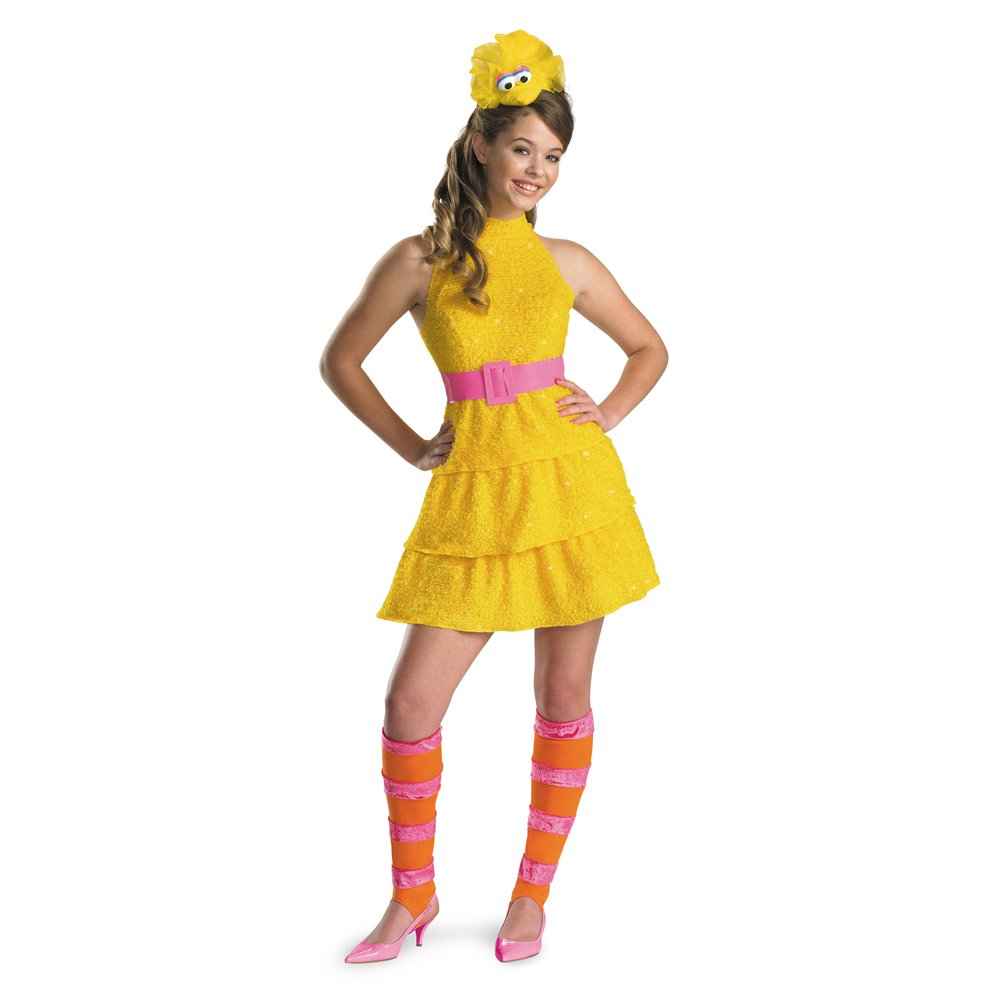 amazoncom disguise sesame street big bird teen girls costume large10 12 toys games - Teen Halloween Outfits