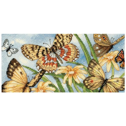 (Dimensions Gold Collection Petite Butterfly Vignette Cntd Cross Stit)
