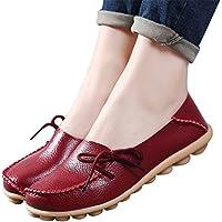 Para mujer, piel Loafers Shoes Wild conducción Casual Flats
