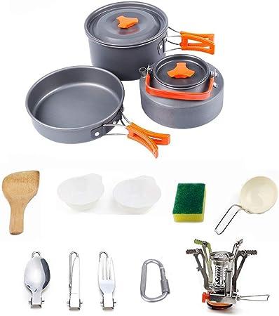 LOSA Kit de Utensilios de Cocina para Acampar, Juego de ...