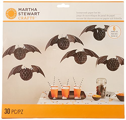 Martha Stewart Crafts Spooky Night Honeycomb Bat Kit, 48-20416 ()
