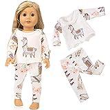 Theshy Cute Sleepwear Pajamas Nightgown for 18 inch Our Generation American Girl Doll Sleepwear Pajamas Fits 18 Inches American Girl Dolls