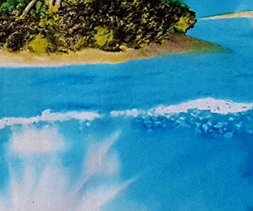 "Blue Island Mens Hawaiian Shirt /""Turtles Paradise/"" 100/% Cotton Turtles M 6XL"