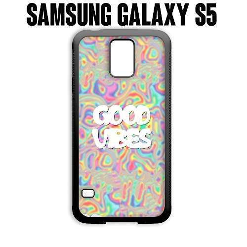 Phone Case Good Vibes Trippy Acid Psychedelic for Samsung Galaxy S5 Rubber Black (Ships from CA)