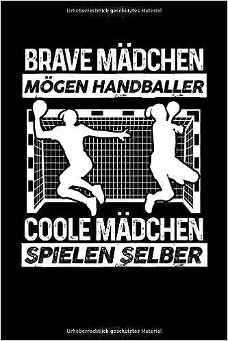 Coole Mädchen Spielen Selber Notizbuch Für Handball Handball Fan