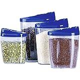 Edco - Set de recipientes de plástico, 4 piezas (1 juego)