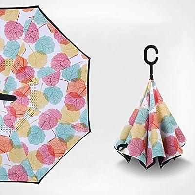 Jiji Paraguas Paraguas invertido a Prueba de Viento invertido ...