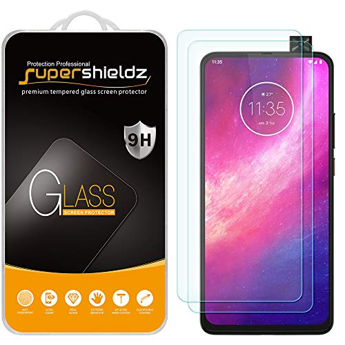 (2 Pack) Supershieldz for Motorola One Hyper Tempered Glass Screen Protector, Anti Scratch, Bubble Free