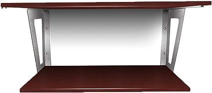 Organizadores para armarios Repisa Dormitorio Doble Ordenador Escritorio Cocina Microondas Soporte Horno Soporte Colgante De Pared Sin Punzones (Color : Brown, Size : 80 * 40 * 30cm): Amazon.es: Hogar