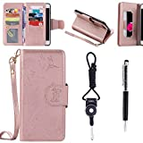 """Sony Xperia Z3 Case, SsHhUu Premium PU Leather Folio Wallet [Magnetic] [Stand] [9 Card Slot] Flip Protective Slim Cover Case + Stylus Pen + Lanyard for Sony Xperia Z3 D6653 (5.2"""") Rose Gold"""