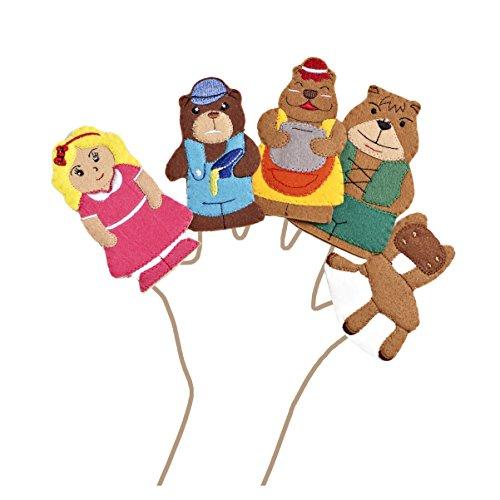 (Goldilocks & the Three Bears Felt Finger Puppet Set (5 Finger Puppets))