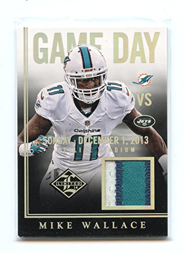 2014 Limited Game Day Materials Prime #23 Mike Wallace Dolphins Jersey