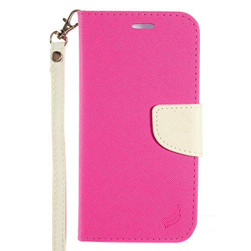 Case Fitted Leather T-mobile - HTC 10 Leather Pouch, HJ Power[TM] For HTC 10 (Verizon, Sprint, T-Mobile)--CT3 Fitted Leather PU WALLET POUCH Case White Pink