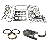 Full Gasket Set, Rings & Rod Bearings Fits Ford Mazda Lincoln 2.5 3.0L #FRB001