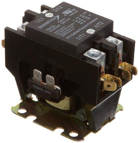 Pole Contactor Spa (DiversiTech EC302240 240-VAC Double Pole Small Frame Definite Purpose Contactors, 30-Amp)