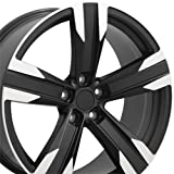 20 camaro wheels - 20x8.5 Wheel Fits Camaro - ZL1 Style Satin Black Rim w/Mach'd Face, Hollander 5532