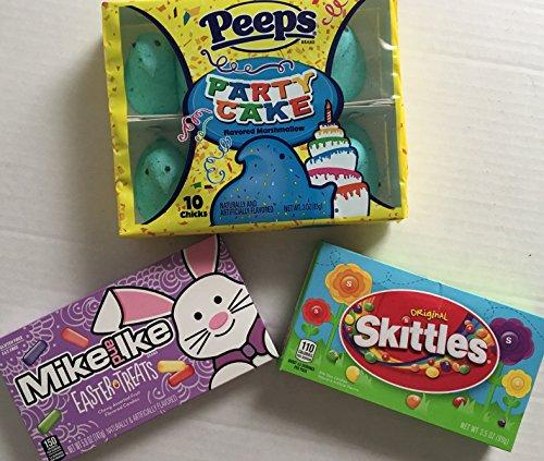 Bundle of Easter Candy Birthday Peeps, Skittles & Mike & Ike