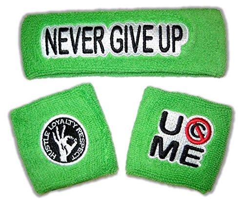 JOHN CENA Headband Wristband Set Choice of Color WWE New-Lime Green -