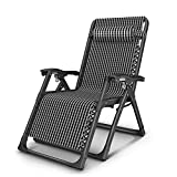 ZHIRONG Zero Gravity Lounge Chair Patio Adjustable Recliner Armchair Garden Chair Beach Chair with Headrest